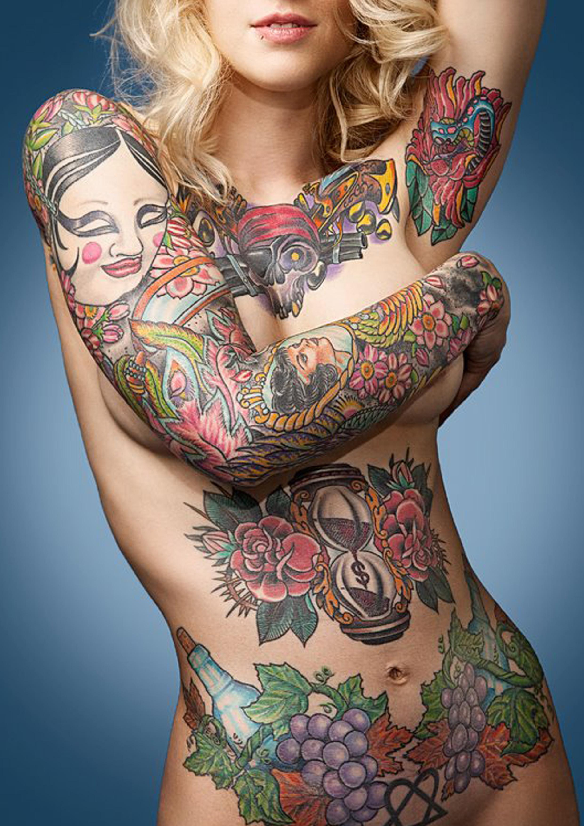 Татуировки для девушек на интимных местах 14 фотография